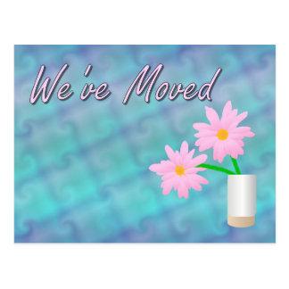 We' flyttat ve vykort