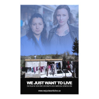 We just want to live - reklamblad
