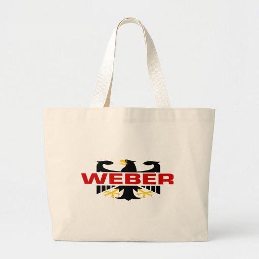 Weber efternamn tote bag