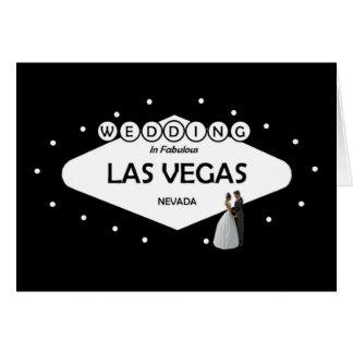 WEDDING In Fabulous Las Vegas B&G Card Hälsningskort