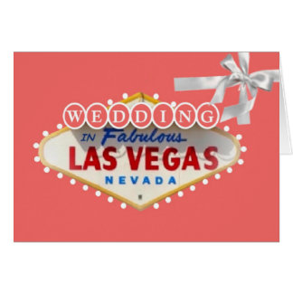 WEDDING In Fabulous Las Vegas Card Hälsningskort