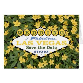 Wedding in Las Vegas Save the Date Spring Card Hälsningskort