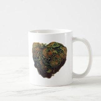 WEED-/KUSHHJÄRTA VIT MUGG
