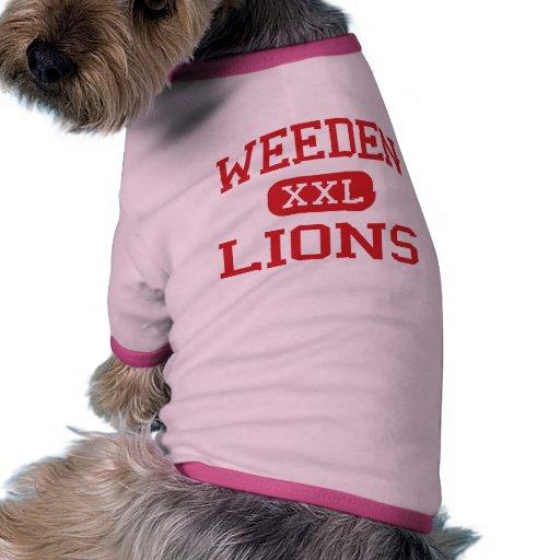Weeden - lejon - mellanstadium - Florence Alabama Hund Tshirt