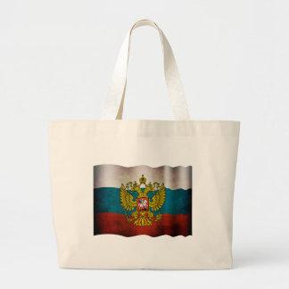 Wehende Flagge von Russland Taschen