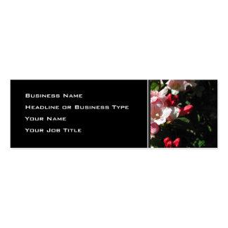 Weigela. Nätt rosa Flowers. Set Av Smala Visitkort