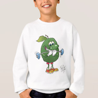 Weight lyftande avokado, på en söt shirt. t-shirt