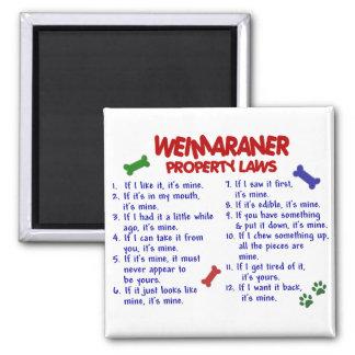 WEIMARANER-egendomlagar 2 Magnet