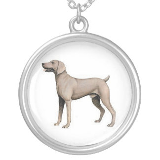 Weimaraner hundhalsband silverpläterat halsband