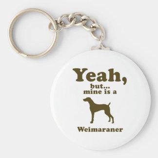 Weimaraner Rund Nyckelring