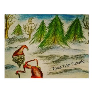 Weird santa painting vykort