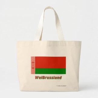 Weißrussland Flagge mit Namen Kassar