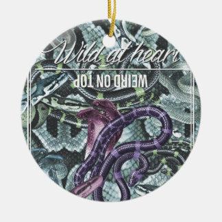 Wellcoda vild på ormen för hjärtakonstig överst julgransprydnad keramik