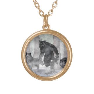 Werewolf och varger guldpläterat halsband
