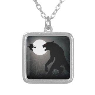 Werewolvesna är här silverpläterat halsband