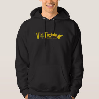 West Virginia guld Sweatshirt Med Luva