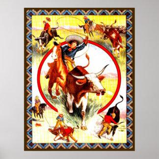 "Western affisch ""för Cowgirl"""