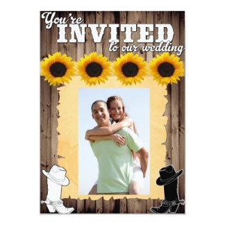 Western bröllopinbjudan för land 12,7 x 17,8 cm inbjudningskort