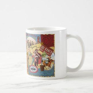 western cowgirl för modern vintage kaffemugg