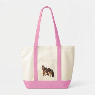 Western häst för gullig tecknad tygkasse