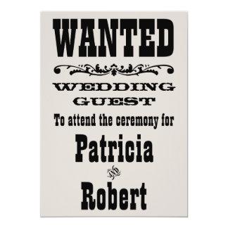 Western inbjudan för bröllop |