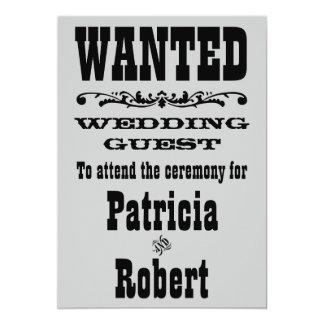 Western inbjudan för bröllop  