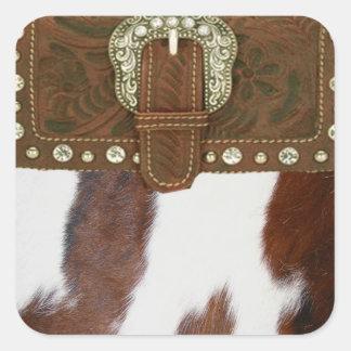 Western klistermärke för Cowhide & för läder