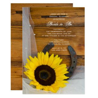 Western möhippa för solroshästskoland 12,7 x 17,8 cm inbjudningskort