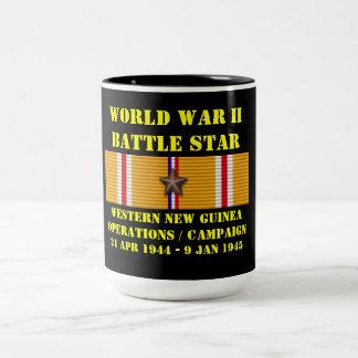 Western New Guinea funktionskampanj Två-Tonad Mugg
