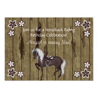 Western rida födelsedaginbjudan 12,7 x 17,8 cm inbjudningskort