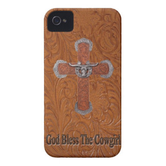 Western välsigna dig Cowgirlblackberry boldfodral iPhone 4 Skydd