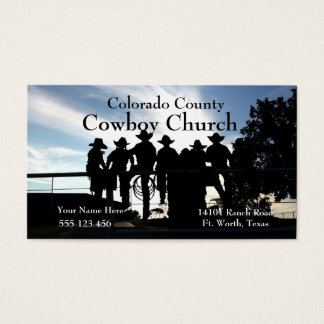 Westerna Cowboys på den FenceBusiness kortmallen Visitkort