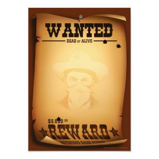 Westerna inbjudningar önskade affischbrevpapper
