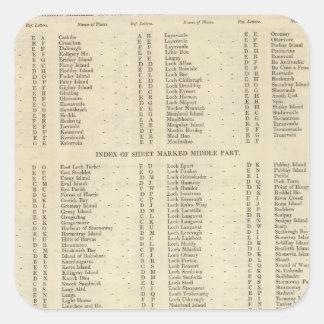Westerna öar för index, Ross, Cromarty grevskap Fyrkantigt Klistermärke