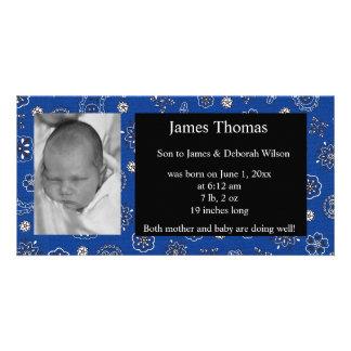 Westernt babyfödelsemeddelande fotokort