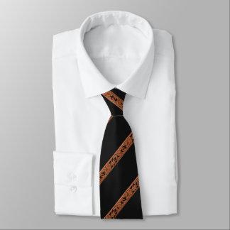 Westernt bearbetat lädertryck slips