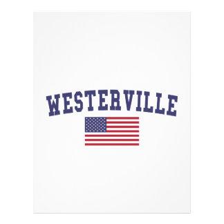 Westerville US flagga Brevhuvud