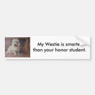 Westie bildekal