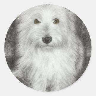 Westie hund runt klistermärke