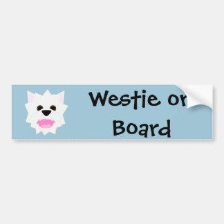 Westie kärlek bildekal
