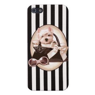 Westie valp och handväska iPhone 5 skal