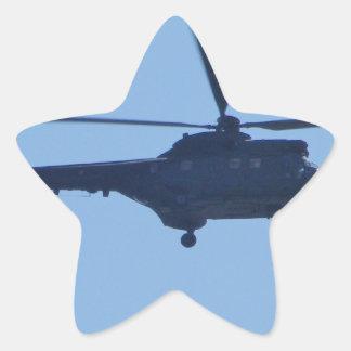 Westland puma stjärnformat klistermärke