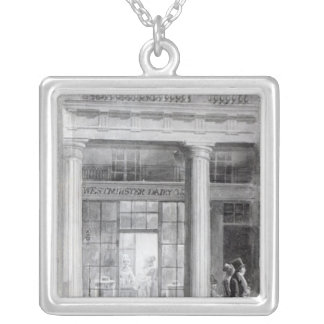 Westminster dagbok, kvadranten, härska gata silverpläterat halsband