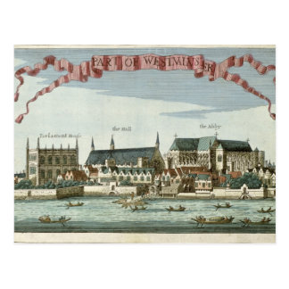 Westminster visning abbeyen vykort