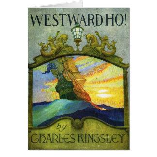 Westward Ho! Bookcover vid N.C Wyeth, 1920 Hälsningskort