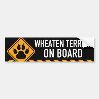 Wheaten Terrier ombord Bildekal