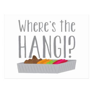 Wheres HANGIEN? (New Zealand maori festmåltid) Vykort