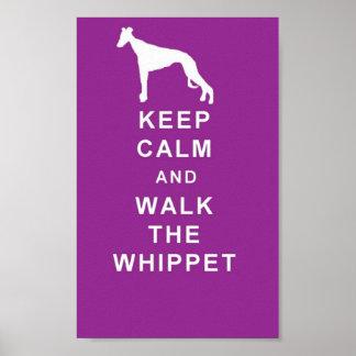 WHIPPET-behållalugn går Whippet den underbara Poster
