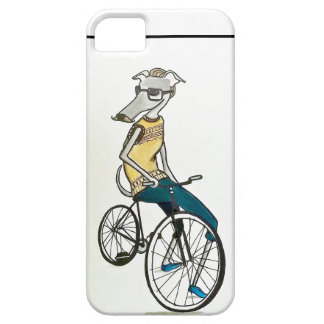 Whippet hipster (cykeln) iPhone 5 Case-Mate skal