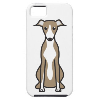 Whippet hundtecknad iPhone 5 cover